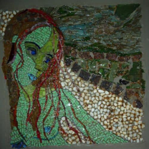 Mozaiek Mneme na omkeren zonder papier